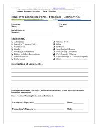 employee discipline template 5 restaurant employee write up forms pdf