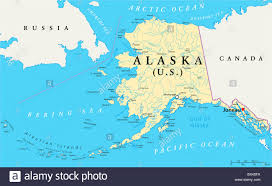us state alaska political map with capital juneau national