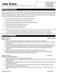 Resume Builder Army Army To Civilian Resume Military To Civilian