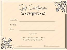 Store Gift Certificate Template Gift Certificate Template Free Download Estudiocheirodeflor Com