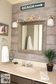 diy beach bathroom wall decor. Bathroom Accent Wall Beach Theme Design Idea Ideas Purple In Color Walls . Decorations Diy Decor E