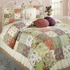 floral bedding blooming prairie cotton patchwork quilt set bedding ... & floral bedding blooming prairie cotton patchwork quilt set bedding Bed  Quilts Adamdwight.com