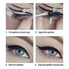 10pcs set cat eye fish l double wing eyeliner stencil eyeliner stencil models template shaper