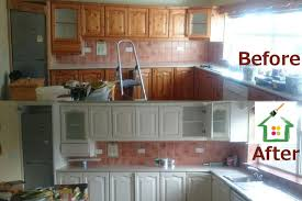 before after kitchen painting by perfecthome cork