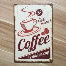 footful coffee vintage tin sign bar pub cafe wall decor retro metal art poster 03