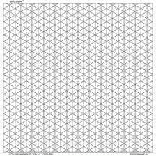Free Custom Graph Paper Isometric Grid Paper 3mm Gray Square Land Letter