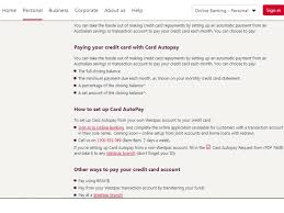 westpac credit card payment and pay