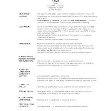 Student Resume Dayjob Good Cv Template Word Cover Letter Templates For Accountant