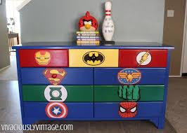 superhero bedroom diy dresser makeover