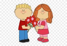 happy valentines day clip art for kids. Unique Clip Kids With Valentineu0027s Day Flowers Clip Art  Valentines Clipart For On Happy U