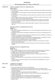 Contract Administrator Resume Template