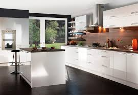 Contemporary Kitchen : Contemporary White Kitchen Cabinets Modern