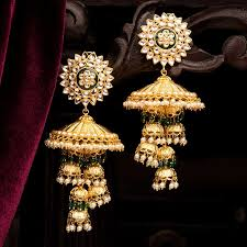 Long Heavy Earrings Design 35 Dazzling Jhumka Designs For Brides To Take Inspiration