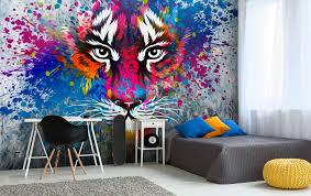 graffiti wallpaper teens bedroom tiger art wall mural