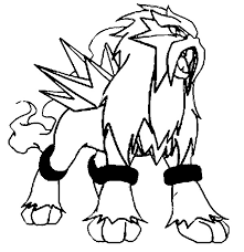Small Picture Coloring Pages Pokemon Entei Drawings Pokemon