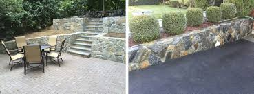 Retaining Wall Seating Retaining Walls F La Rocca And Sons Inc Masonry Landscaping