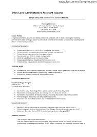 entry level marketing job resume sample administrative assistant job resume examples