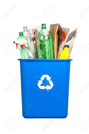 Plastic Bottle Recycling A Recycling Bin With Plastic Bottles Paper Cardboard And Other