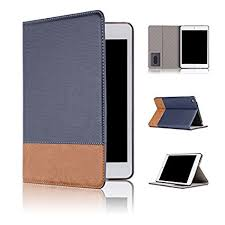 qinda luxury leather smart flip case cover for apple ipad mini 4 sleep wake