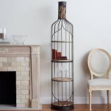 giant wine bottle accent shelf