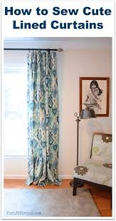 how to sew cute lined curtains a tutorial thriftdiving com