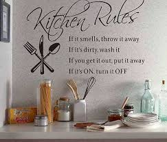 kitchen rules wall quote sticker