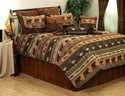 lodge style bedding bedding n more hole wildlife comforter or duvet bed set intended for popular lodge style bedding
