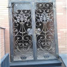 front door gate. Wrought Iron Entry Door Gate Art Two-piece Customize Front