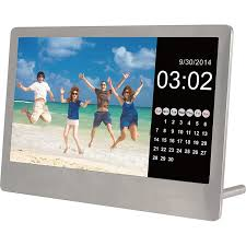 sylvania sdpf7977 7 inch stainless steel digital photo frame stainless steel 0