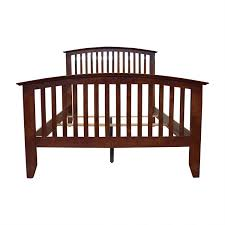 82% OFF - Bob's Furniture Bob's Furniture Wood Caged Full Bed Frame ...