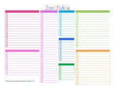 Blank Packing List Rome Fontanacountryinn Com
