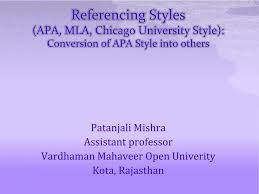 Ppt Referencing Styles Apa Mla Chicago University Style