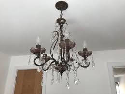 laura ashley glass chandelier 5 bulb hanging light