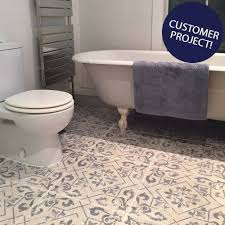 blue bathroom floor tiles.  Tiles Harran Pattern Tiles Intended Blue Bathroom Floor _