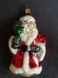 Inge Glas Weihnachtsmann Figuren Glas Christbaumschmuck Deko