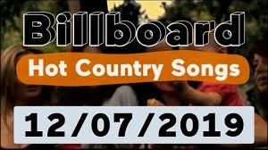 Billboard Top 50 Hot Country Songs December 7 2019