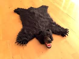 picture of bear skin rug faux fur miniature