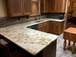 colonial cream color granite counter