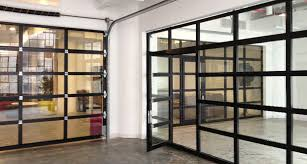 delighful glass with glass overhead doors a