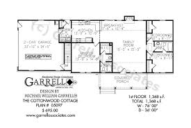 floor plan of a one story house. Cottonwood Cottage House Plan 05097, Floor Of A One Story
