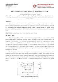 Rubber Mold Design Pdf Pdf Design And Fabrication Of Silicon Rubber Mould Srm