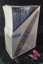 opi edge nail file silver 180 grit box 48 pcs