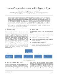 Interdisciplinary Interaction Design Pdf Pdf Human Computer Interaction And Its Types A Types