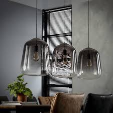 Industriële En Moderne Hanglampde Hanglamp Smoaked 3lichtsoud Zilver