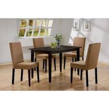 5 pc espresso brown 4 person table and chairs brown dining dinette espresso brown and beige parson chair 4 person espresso brown dining table set