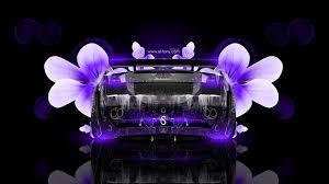 lamborghini gallardo fantasy water flowers car