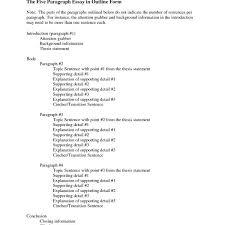 high school outline format 5 paragraph essay outline format best photos of high school research
