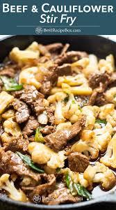 beef and caulflower stir fry recipe
