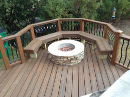 archadeck of charlotte built this trex transcends e rum composite deck with a composite bench and