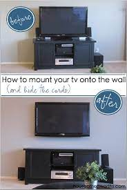 tv to the wall and hide the cords